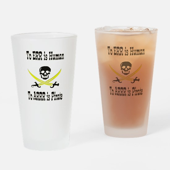 Pirates Are Human - Style 2 Drinking Glass