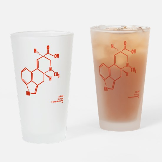 LSD Molecule - Label Drinking Glass