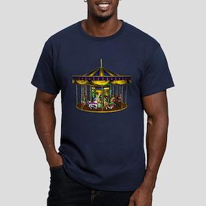 The Golden Carousel Men's Fitted T-Shirt (dark)