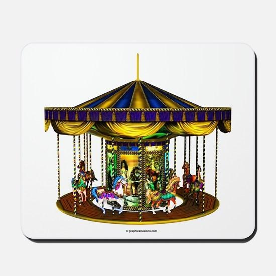 The Golden Carousel Mousepad