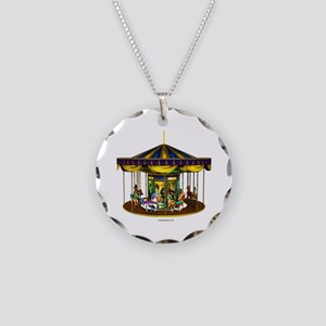 The Golden Carousel Necklace Circle Charm