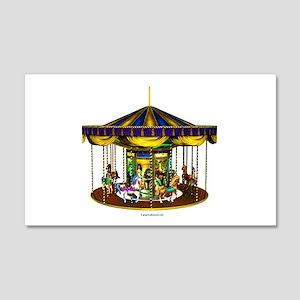 The Golden Carousel 22x14 Wall Peel