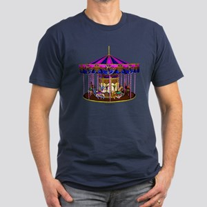 The Pink Carousel Men's Fitted T-Shirt (dark)