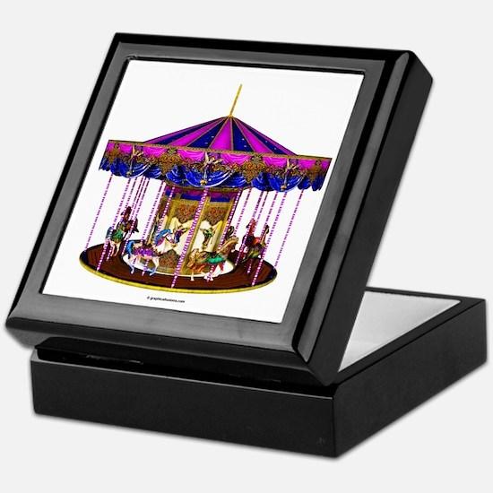 The Pink Carousel Keepsake Box