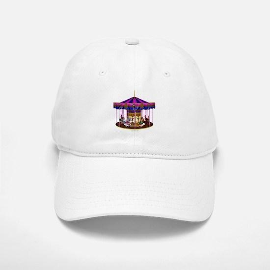 The Pink Carousel Baseball Baseball Cap