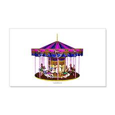 The Pink Carousel 22x14 Wall Peel