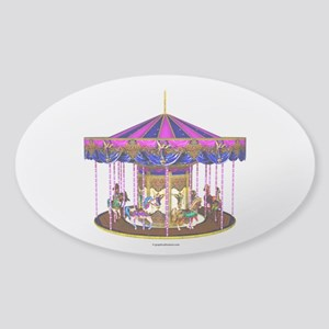 The Pink Carousel Sticker (Oval)