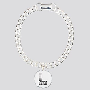 I Invest In Lead Charm Bracelet, One Charm