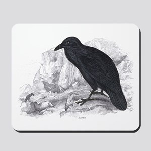 Black Raven Bird Mousepad