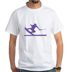 Purple Wakeboard Nose Press White T-Shirt