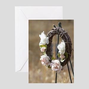 Rose Wreath Greeting Card