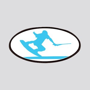 Blue Wakeboard Nose Press Patches