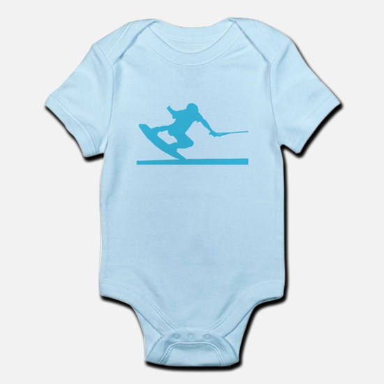 Blue Wakeboard Nose Press Infant Bodysuit