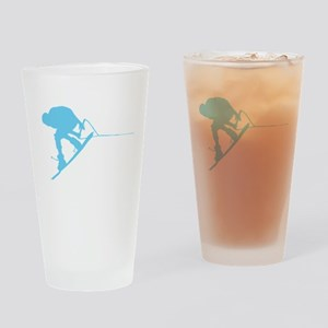 Blue Wakeboard Back Spin Drinking Glass