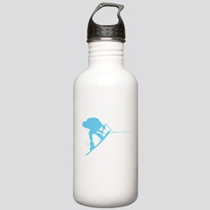 Blue Wakeboard Back Spin Stainless Water Bottle 1.