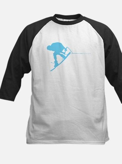 Blue Wakeboard Back Spin Kids Baseball Jersey