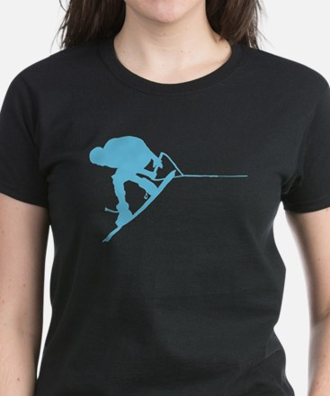 Blue Wakeboard Back Spin Women's Dark T-Shirt
