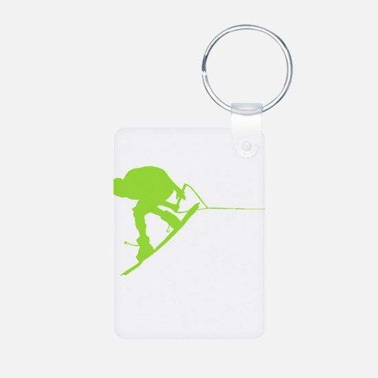 Green Wakeboard Back Spin Keychains