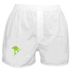 Green Wakeboard Back Spin Boxer Shorts