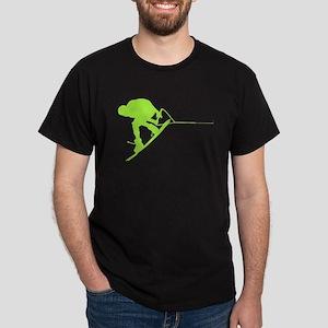 Green Wakeboard Back Spin Dark T-Shirt