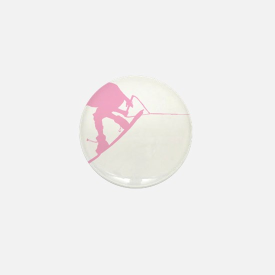 Pink Wakeboard Back Spin Mini Button