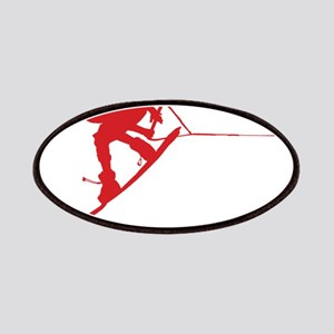 Red Wakeboard Back Spin Patches
