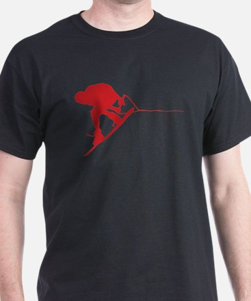 Red Wakeboard Back Spin T-Shirt