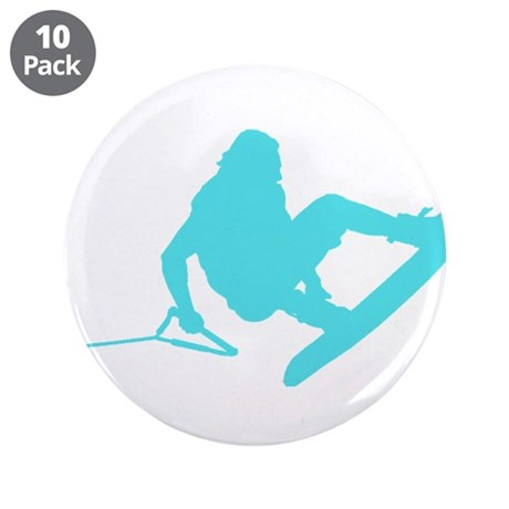 "Blue Wakeboard 360 Handle Pas 3.5"" Button (10 pack"