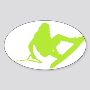 Green Wakeboard 360 Handle Pa Sticker (Oval)