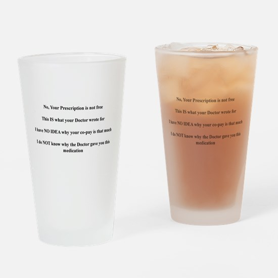 Unique Pharmacist Drinking Glass