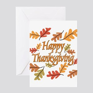 Thanksgiving greeting cards cafepress happy thanksgiving greeting card m4hsunfo