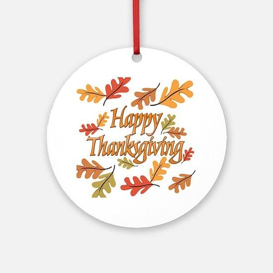 Happy Thanksgiving Ornament (Round)