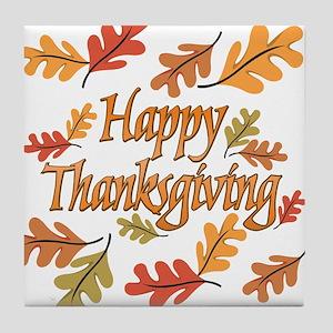 Happy Thanksgiving Tile Coaster