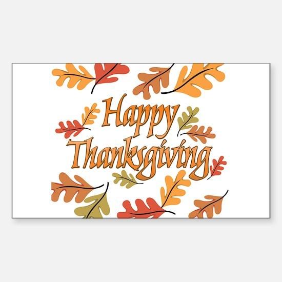 Happy Thanksgiving Sticker (Rectangle)
