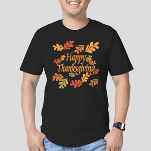 Happy Thanksgiving Men's Fitted T-Shirt (dark)
