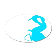 Blue Wakeboard Invert Handle 38.5 x 24.5 Oval Wall