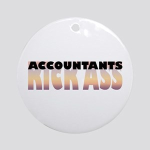 Accountants Kick Ass Ornament (Round)