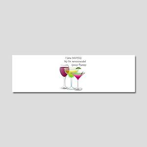 wine a little 2 Car Magnet 10 x 3