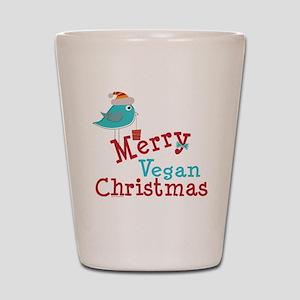 Merry Vegan Christmas Shot Glass