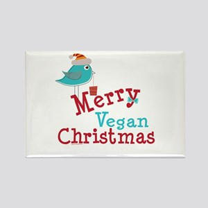 Merry Vegan Christmas Rectangle Magnet