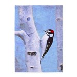 Downy Woodpecker 5'x7'Area Rug