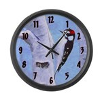 Downy Woodpecker Large Wall Clock