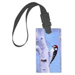 Downy Woodpecker Large Luggage Tag