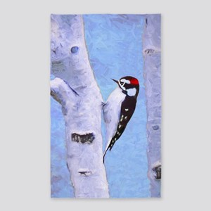 Downy Woodpecker Area Rug