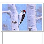Downy Woodpecker Yard Sign