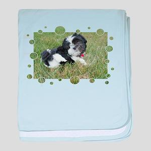 Shih Tzu Puppy baby blanket