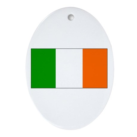 Ireland Irish Blank Flag Oval Ornament
