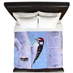 Downy Woodpecker King Duvet