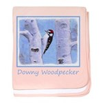 Downy Woodpecker baby blanket