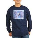 Downy Woodpecker Long Sleeve Dark T-Shirt
